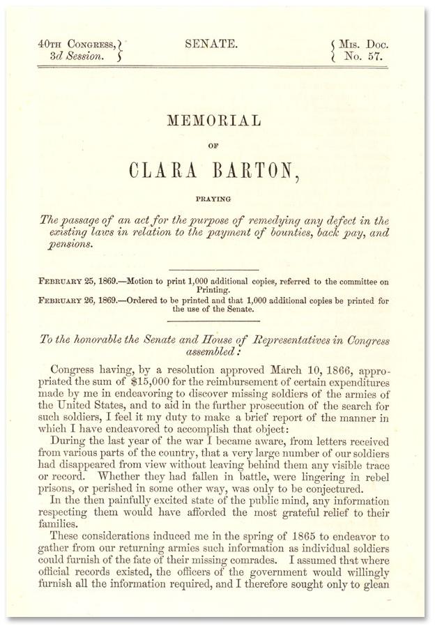 The Search for Missing Men and Senate Memorial | Clara